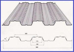 tôn đổ sàn Deck sóng cao 75